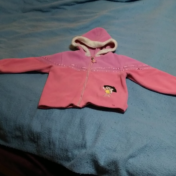 Pink Dora girls coat size